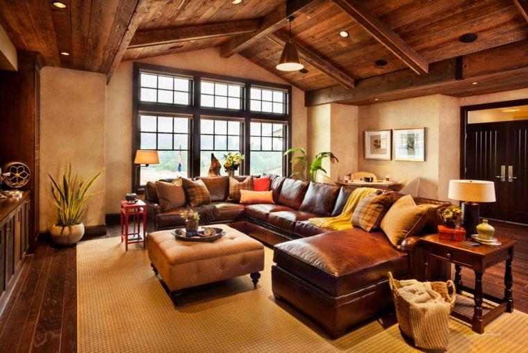 travi-in-legno-soffitto-soggiorno-stile-rustico