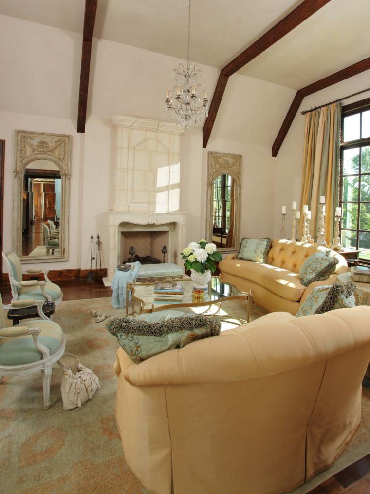 travi-in-legno-soggiorno-stile-classico