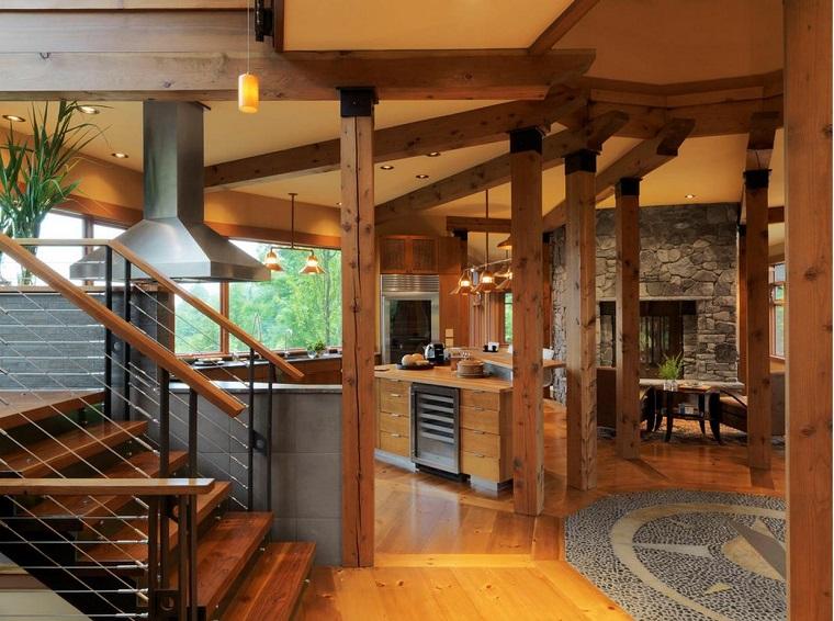 travi-legno-open-space-arredamento-stile-rustico