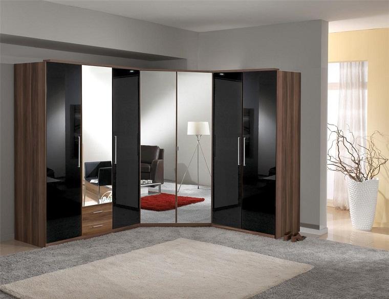 armadio angolare-ante-specchio