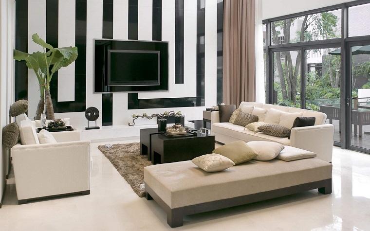 arredamento-salotto-idea-parete-bianca-nera