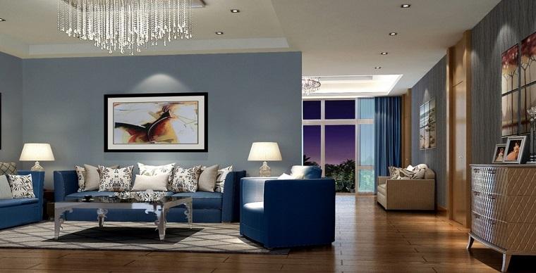 arredare-soggiorno-proposta-elegante-parete-azzurra