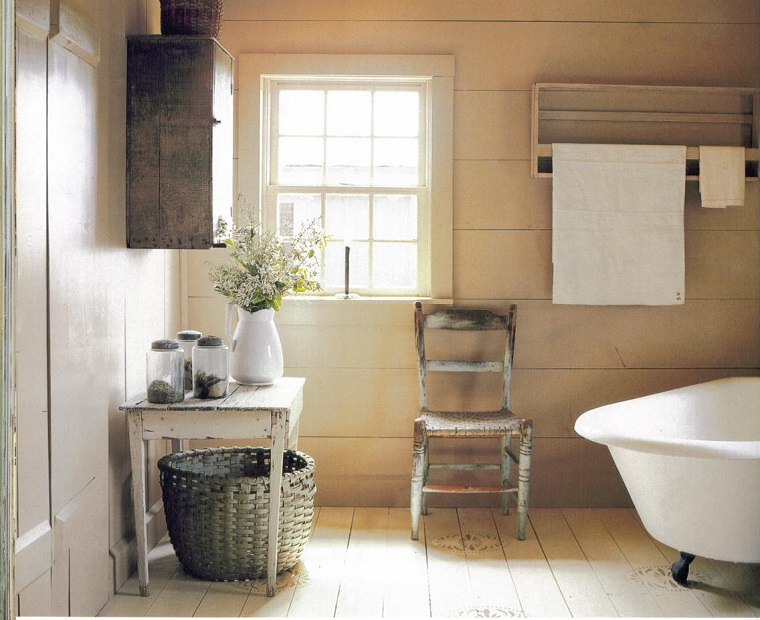 Bagni rustici fra legno e pietra tante idee calde e for Arredo bagno semplice