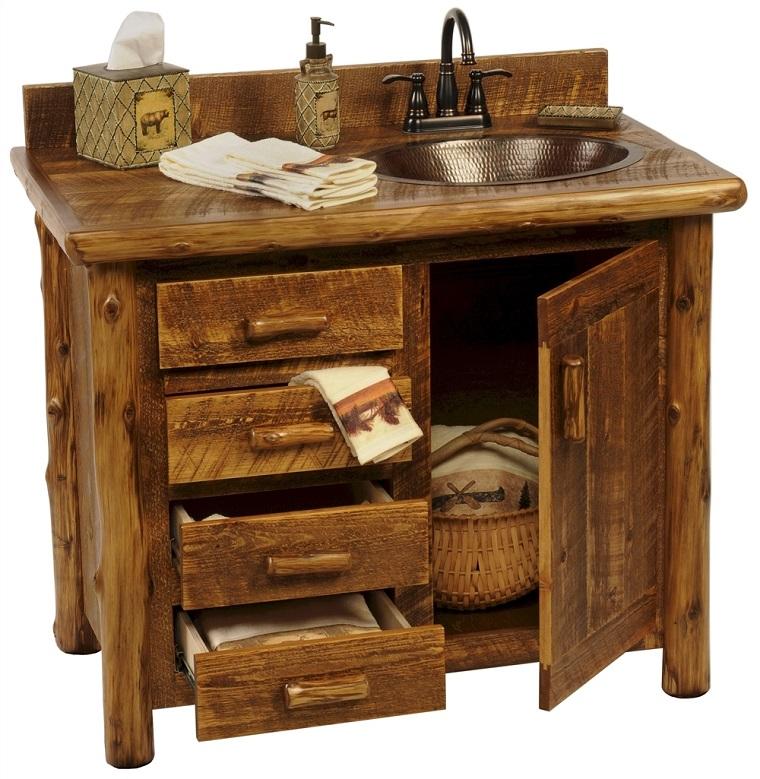 Bagni rustici fra legno e pietra tante idee calde e rilassanti - Bagno rustico in legno ...