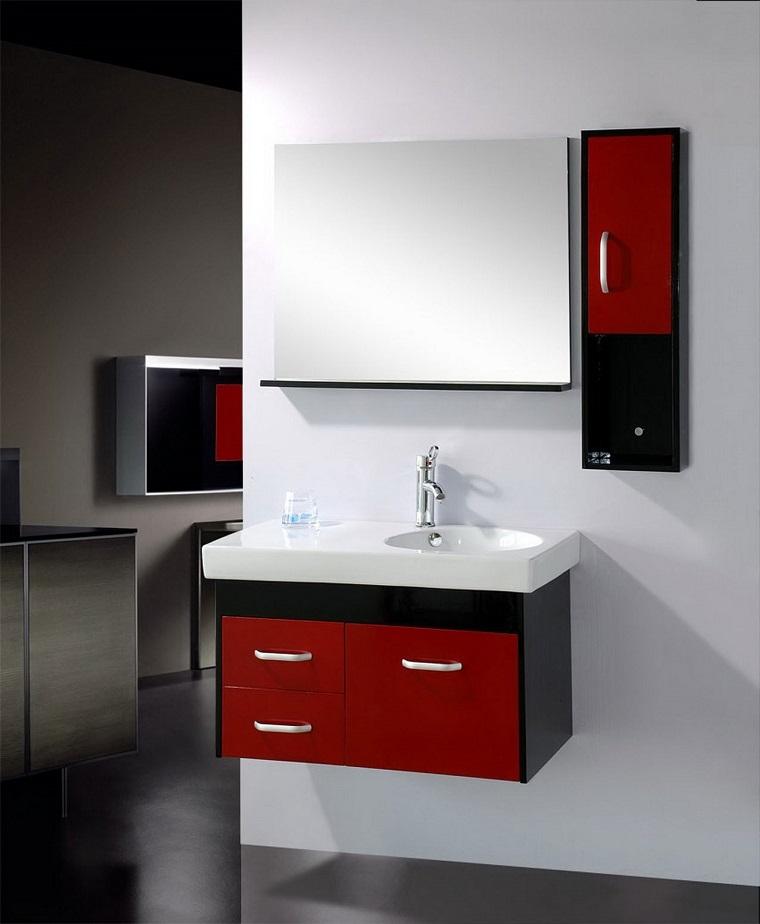 Bagno moderno piccolo colori chiari e mobili sospesi le - Colori bagno moderno ...