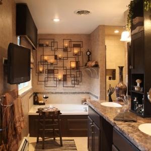 ▷ 1001 + idee per il bagno senza piastrelle molto creative