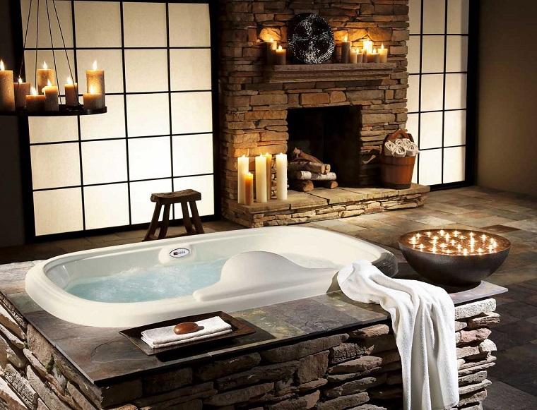 Bagno Legno Rustico : Bagni rustici fra legno e pietra tante idee calde e rilassanti
