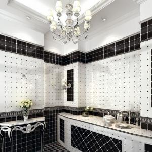 1001 idee per il bagno senza piastrelle molto creative - Bagno bianco nero ...