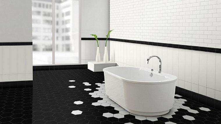 Bagno bianco nero un accostamento da sempre vincente - Bagno bianco nero ...