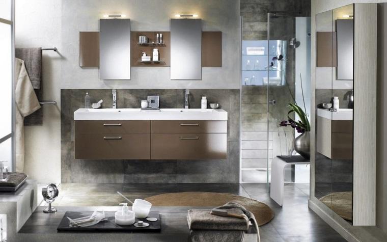 Bagno moderno piccolo colori chiari e mobili sospesi le - Idee bagno moderno piccolo ...