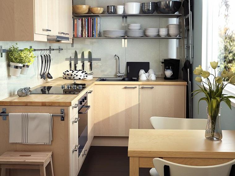 come arredare casa piccola-idea-cucina