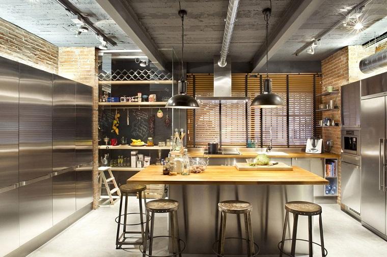cucina-ad-angolo-idea-stile-industriale
