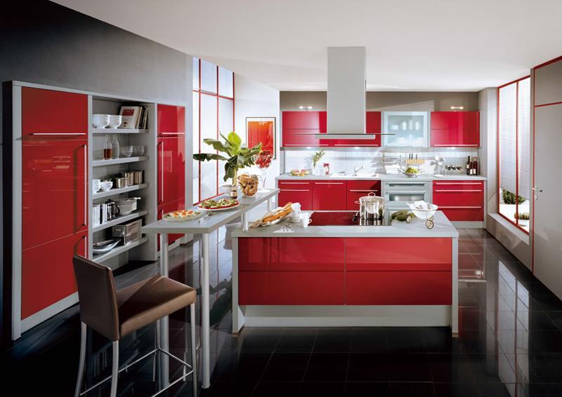 cucina-rossa-idea-pavimento-nero