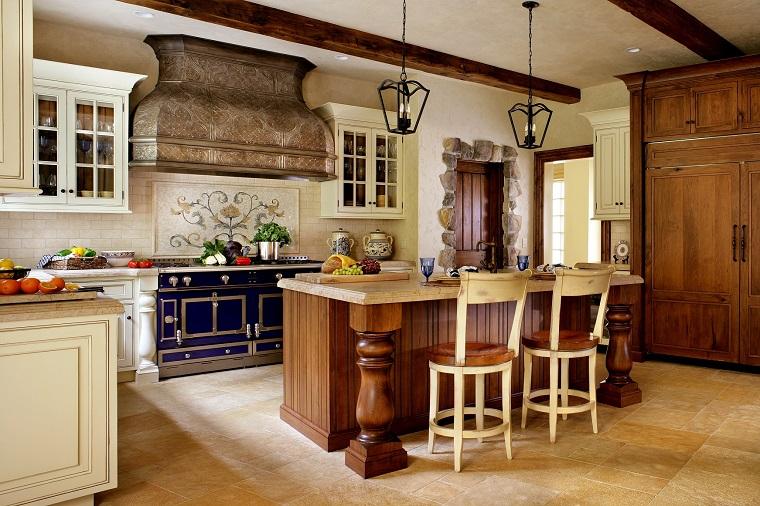 cucina-rustica-idea-cappa-originale