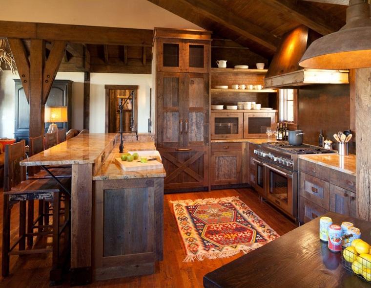 cucina-rustica-soluzione-legno-grezzo