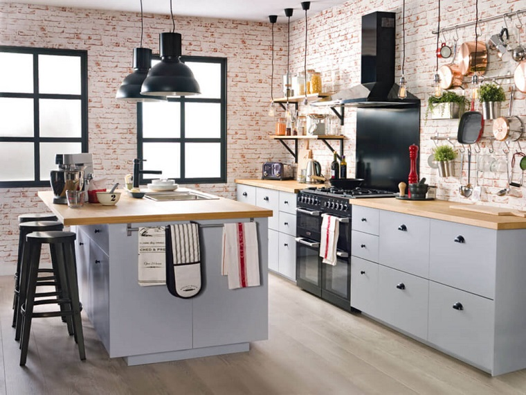 cucina-stile-industriale-isola