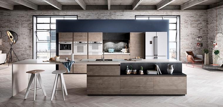 cucina-stile-industriale-mobili-chiari