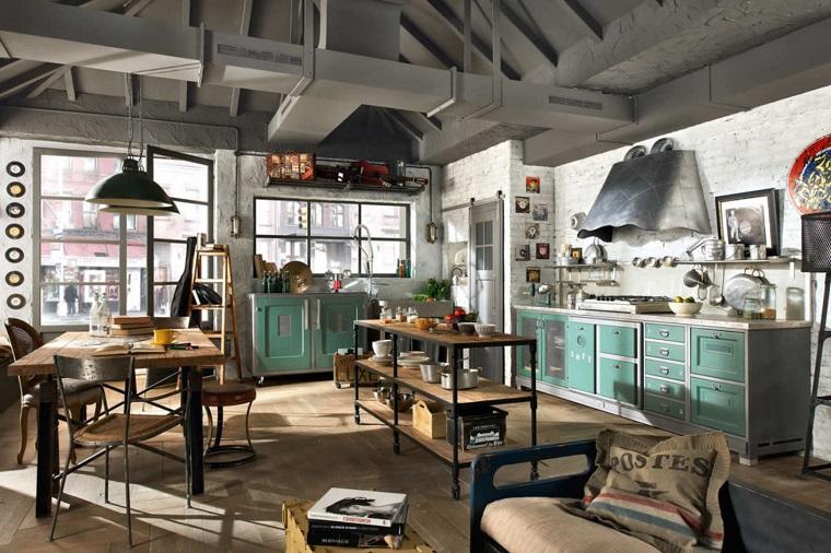 cucina-stile-industriale-mobili-vintage