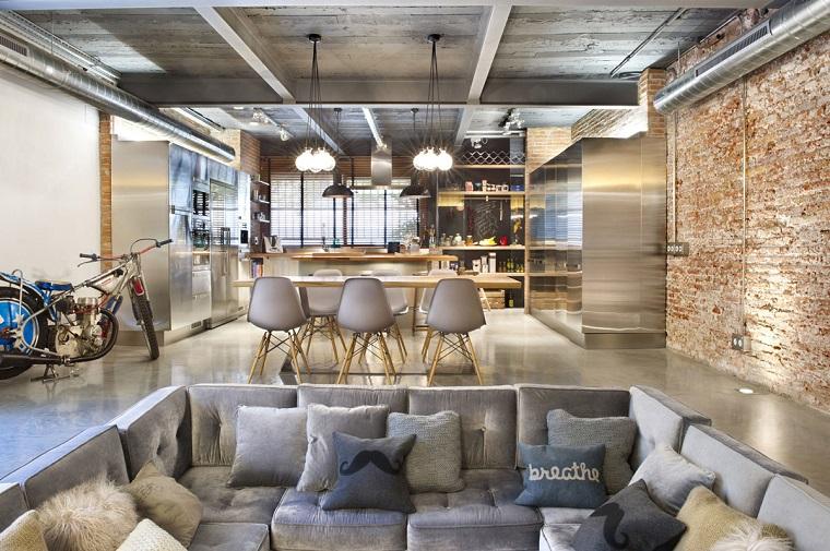 cucina-stile-industriale-open-space