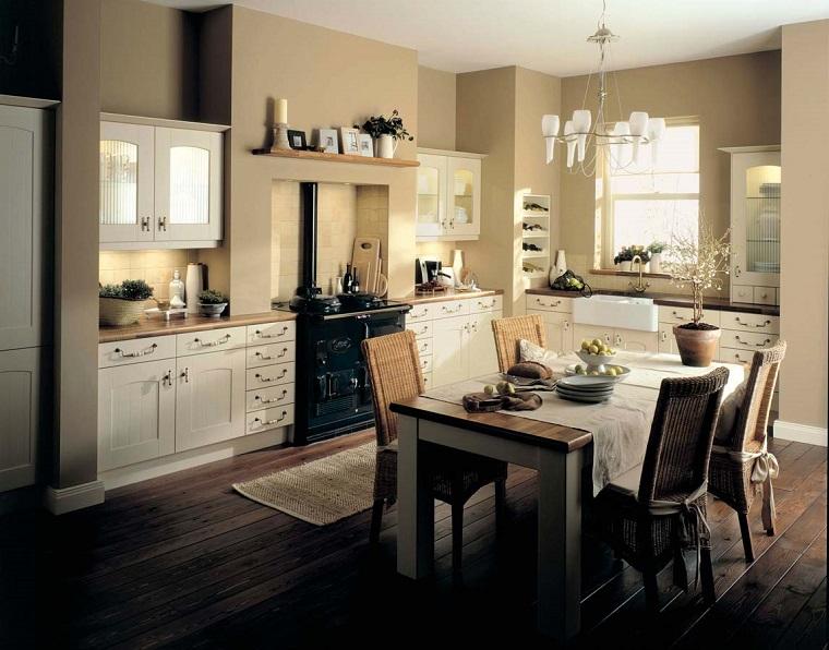 cucina stile inglese-accenti-rustici