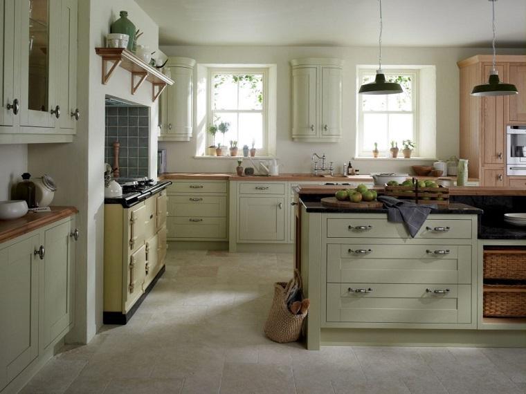 cucina stile inglese-colori-pastello