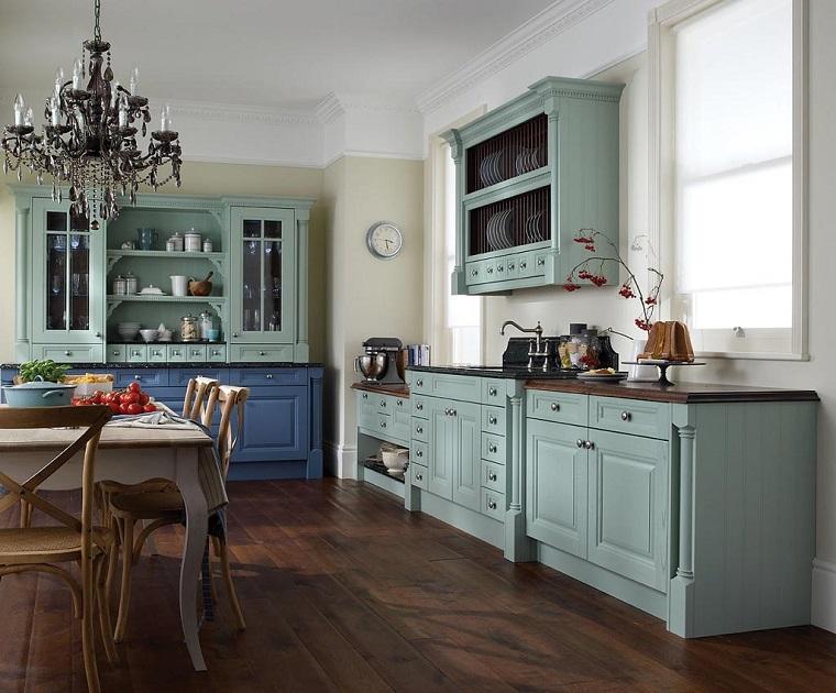 cucina vintage-idea-lampadario-elegante