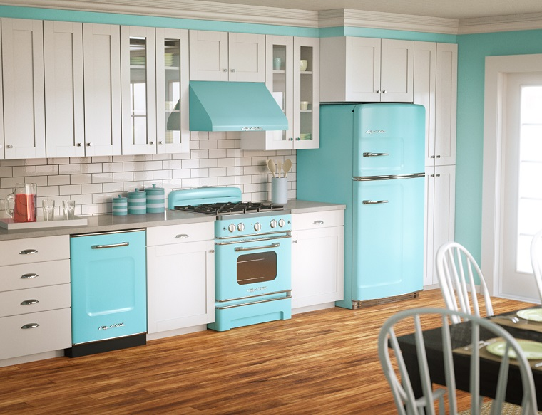 cucina vintage-idea-mobili-bianchi-celesti