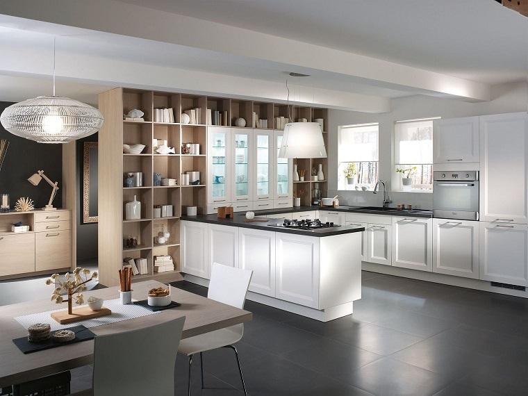 cucine-bianche-classiche-top-pavimento-neri