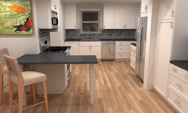 cucine-con-pensiola-top-grigio