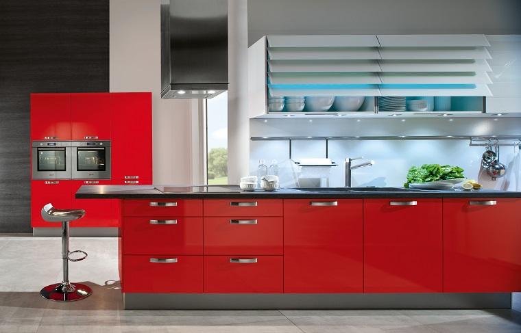 cucine rosse-proposta-moderna-lineare