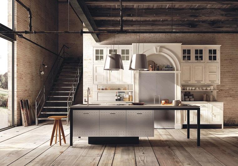 cucine rustiche-accenti-stile-industriale