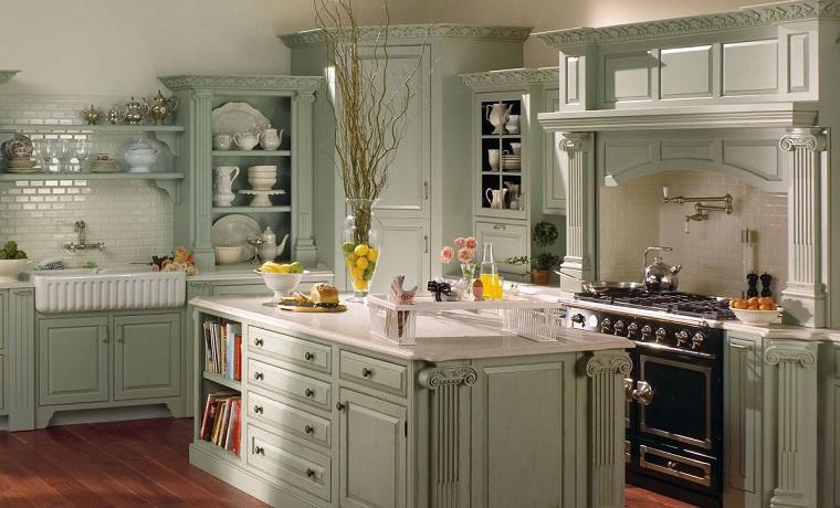 cucine rustiche-isola-credenza-vista