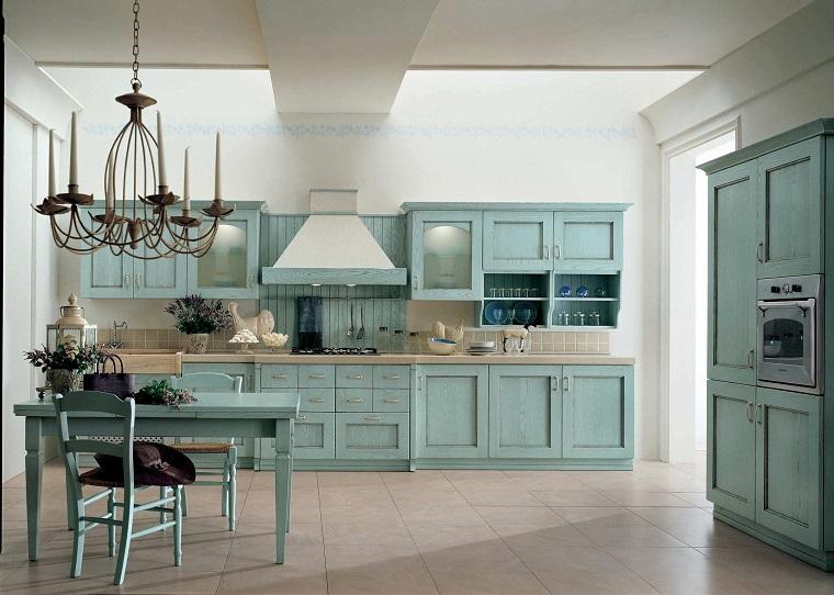 cucine rustiche-lineare-tavolo