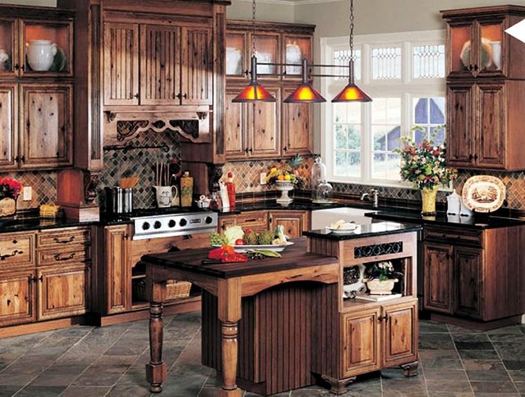 cucine rustiche-proposta-legno.pavimento-pietra