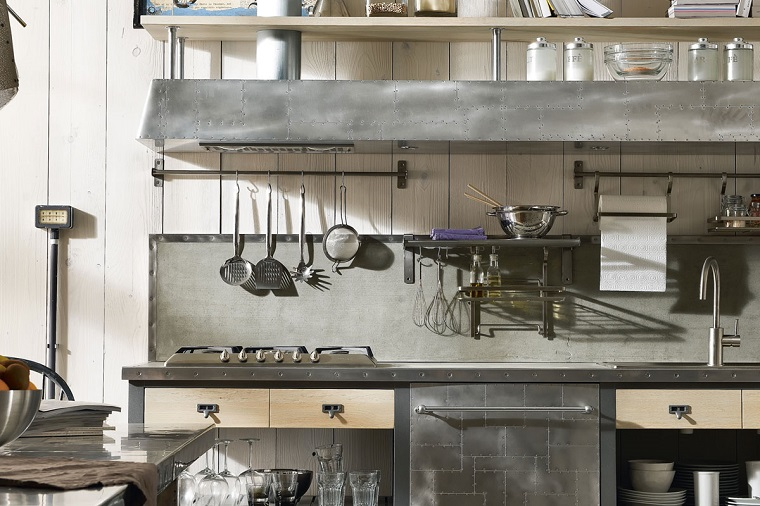 cucine stile industriale-acciaio-inox