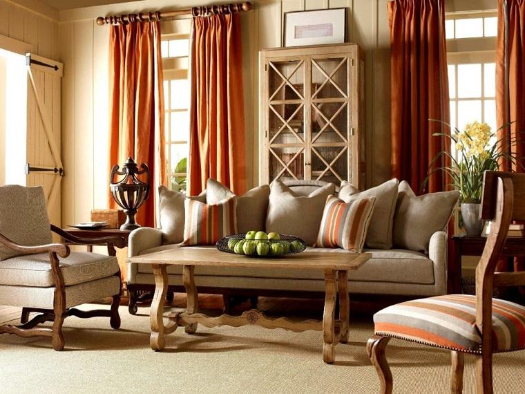 english style-soluzione-salotto-tavolo-legno