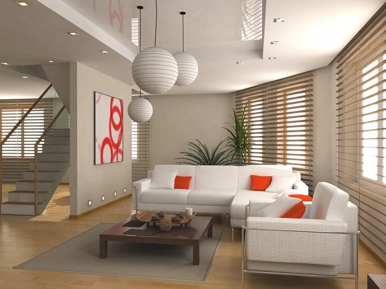 feng shui casa-salotto-divani-bianchi