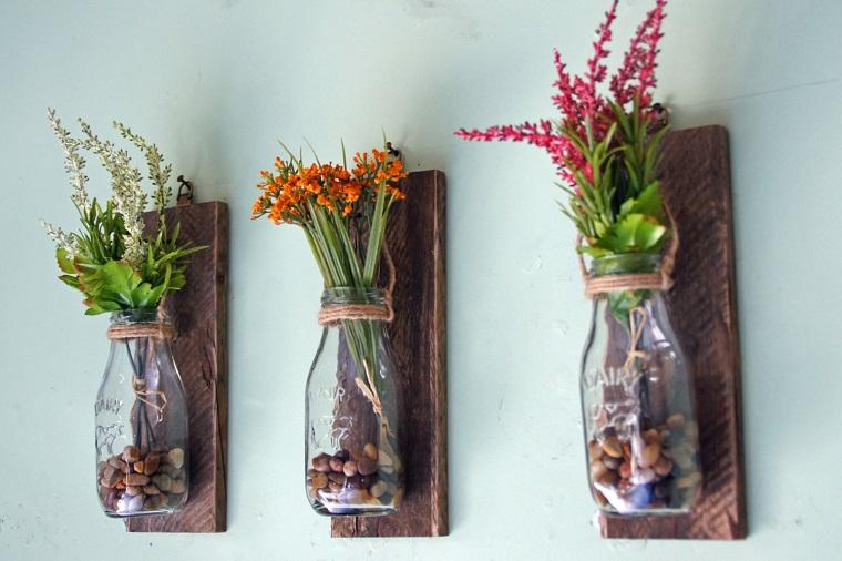 fioriere fai da te-bottiglie-vetro
