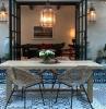 giardini moderni fai da te arredamento con tavolo da pranzo da esterno con sedie in raffia