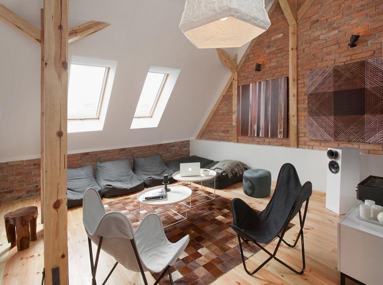 idee mansarda-arredamento-stile-moderno