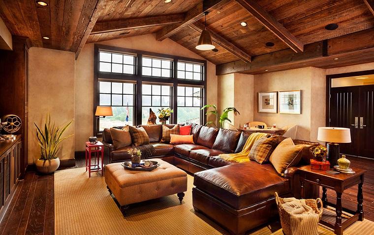 idee mansarda-salotto-stile-rustico
