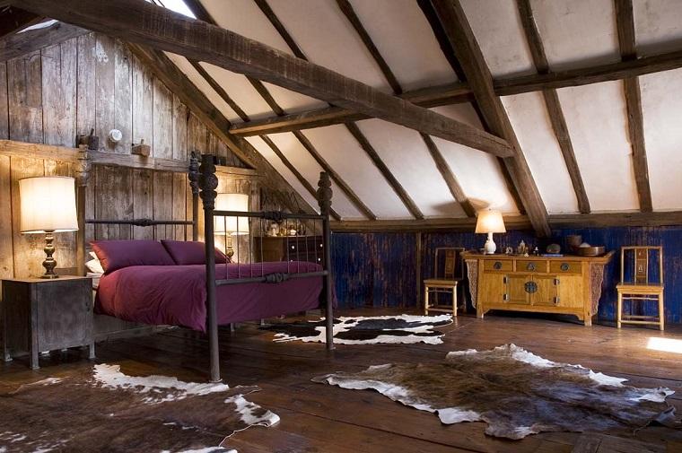 idee mansarda-splendida-camera-letto