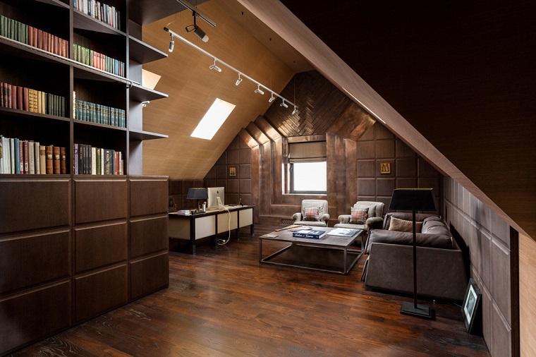 idee mansarda-studio-libreria