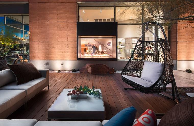 idee per terrazzi-dondolo-design
