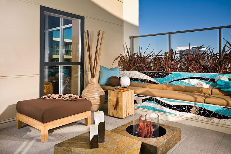 idee per terrazzi-idea-stile-moderno