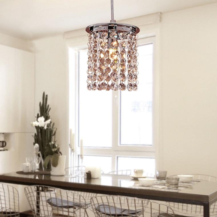 illuminazione-cucina-idea-cristallo-raffinata