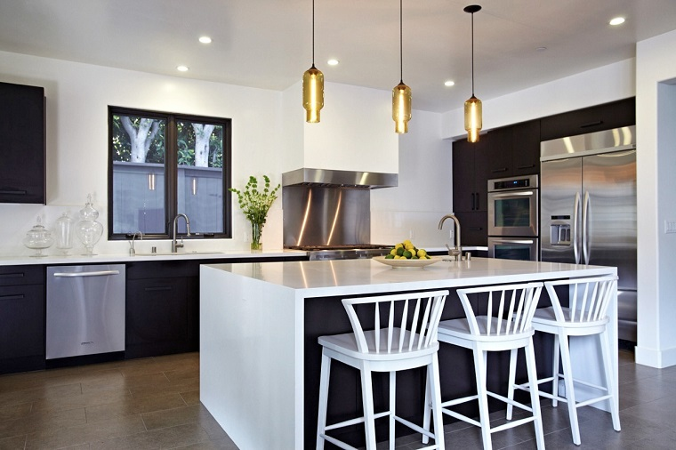 lampadari cucina-idea-moderna-isola