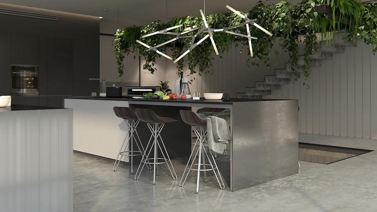 Lampadari cucina proposte di design per valorizzare l 39 ambiente - Lampadari in cucina ...