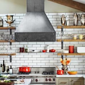 1001 idee per cucine moderne piccole soluzioni di design - Mensole cucina country ...