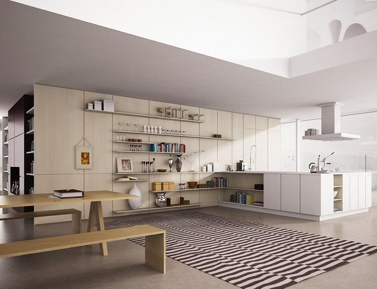 mensole cucina-soluzione-open-space